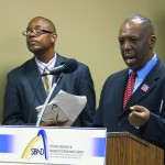 John Porter, MC and William T. Rogers, Senior Account Executive Chicago Defender