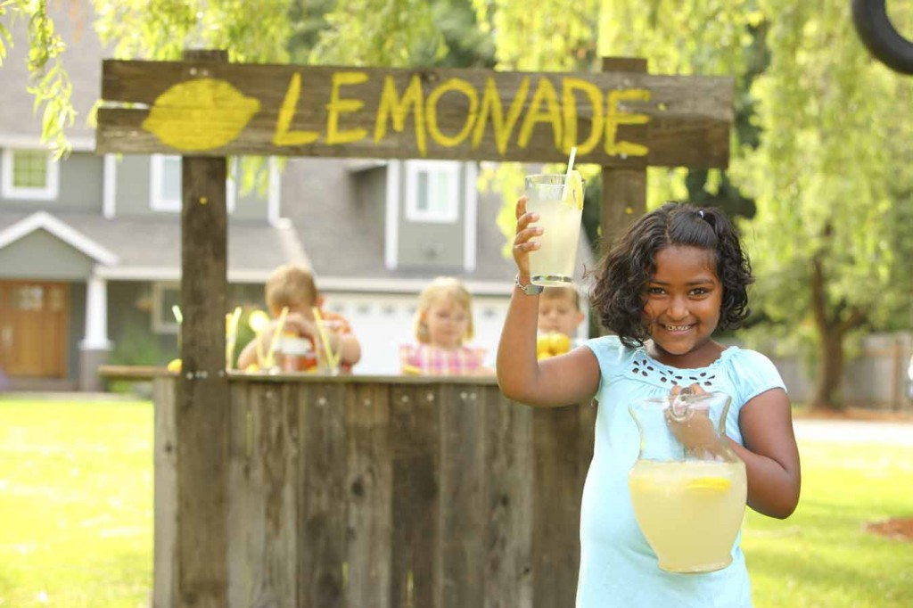 You're Never Too Small to Work with a Marketing Agency - Peace & Harmony Lemonade Stand photo.