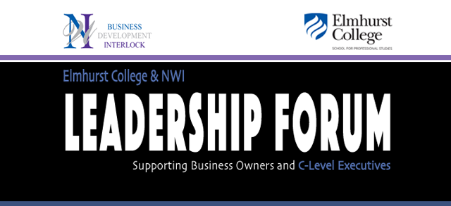 Web Banner: Elmhurst College & Networking With Impact, Leadership Forum