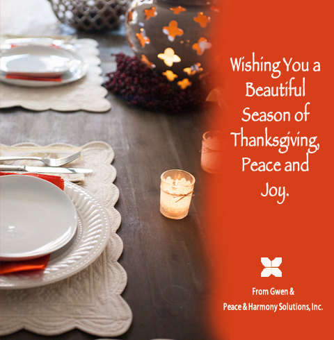 Greetings from Peace & Harmony Solutions, Inc