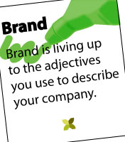 >We can't really talk about marketing without referencing. Brand is the